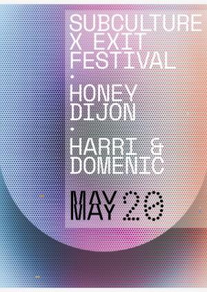 Subculture XXX ・EXIT Festival Launch with Honey Dijon