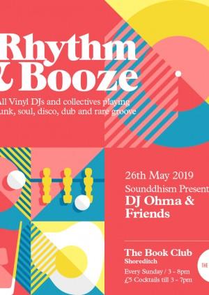 Rhythm & Booze w/ DJ Ohma & Friends  - All Vinyl Sunday Sessions!