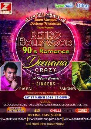Zacrec presents  Dostana Friendship Presents Retro Bollywood 90s Romance