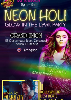 NEON HOLI  GLOW IN THE DARK PARTY