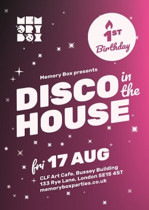 Memory Box - Disco in the House 1st Birthday