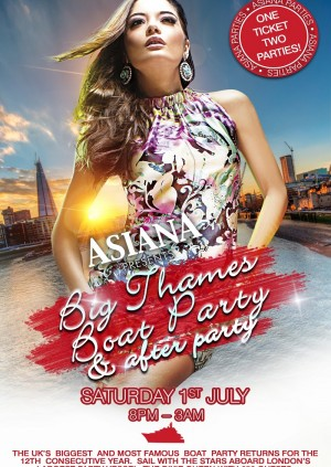 Asiana Big Thames Boat Party & After Party