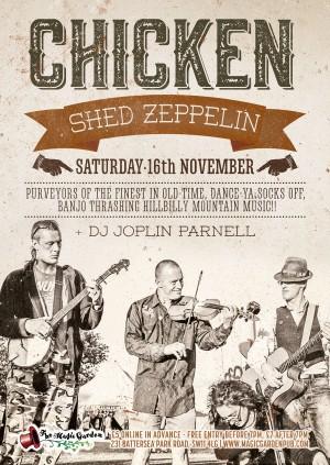 Chicken Shed Zeppelin + DJ Joplin Parnell