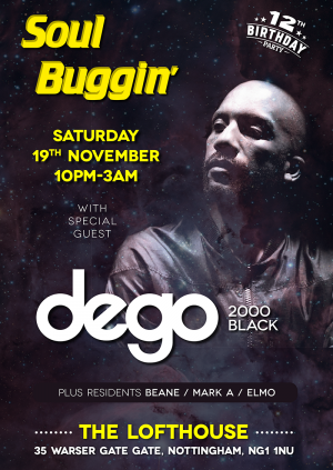 Soul Buggin' 12th Birthday with Dego (4 hero / 2000 Black)