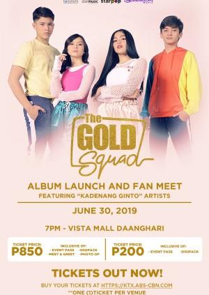 The Gold Squad Album Launch: Vista Mall Daang Hari