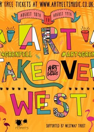 Art Meets Music X FerArts Presents Art Take Over #Art4Grenfell
