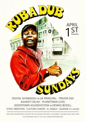 Rub A Dub Sunday: Digital Niyabinghi / Dennis Bovell / TrevorSax