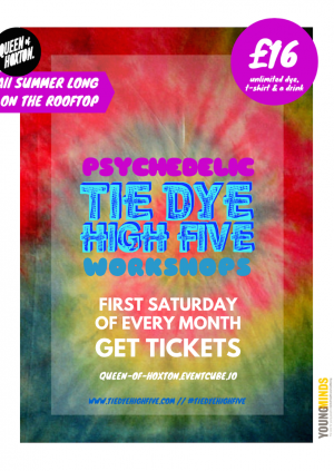 Psychedelic' Tie Dye High Five on the Rooftop