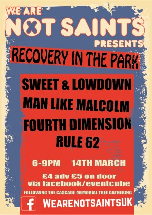 We Are Not Saints presents Recovery In The Park