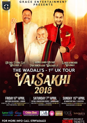 Grace Entertainment Presents The Wadali's 1st UK Tour - Vaisakhi 2018