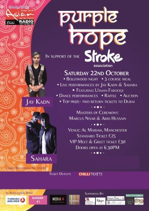 Purple Hope in support of The Stroke Association