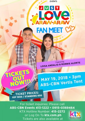 Just Love Araw-Araw Fan Meet with Loisa and Ronnie