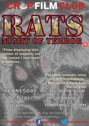 """Crap Film Club presents """"Rats: Night of Terror"""""""