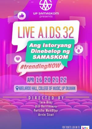 LIVE A.I.D.S. 32: Ang Istoryang Dinibelop ng SAMASKOM [April 20 7:30PM]