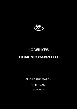 Scuba Reacheduled - JG Wilkes & Domenic Capello - £5 all night