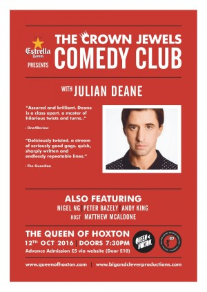 Crown Jewels Comedy Club w/ Julian Deane
