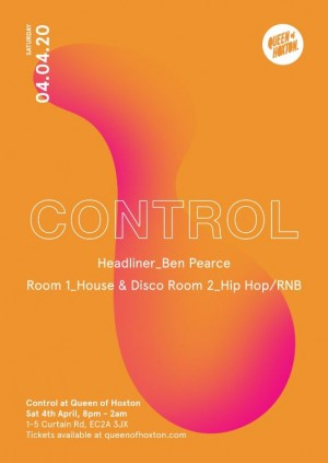 Control: Launch Party with Ben Pearce (Postponed)