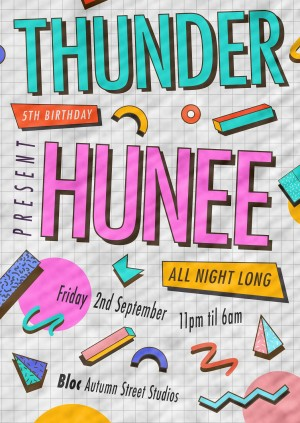 THUNDER 5th Birthday with HUNEE ALL NIGHT