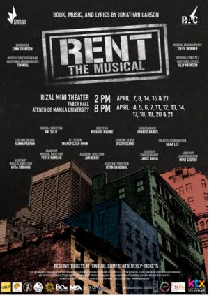 RENT: The Musical April 21, 2018 Sat