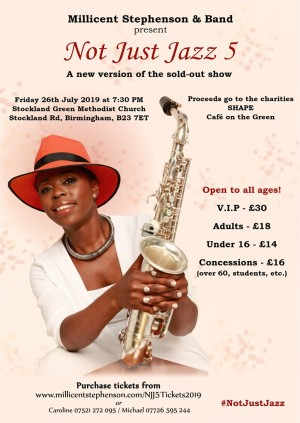 Not Just Jazz 5 Millicent Stephenson Saxophonist & Band