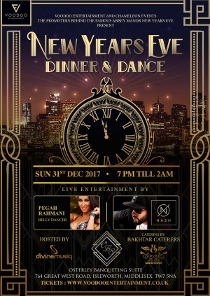 New Years Eve Dinner & Dance - Osterley Banqueting Suite