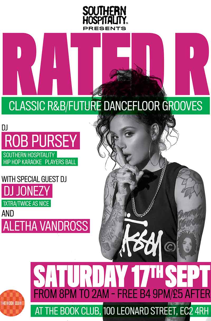 Rated R w/ Rob Pursey, Aletha Vandross & Special Guests