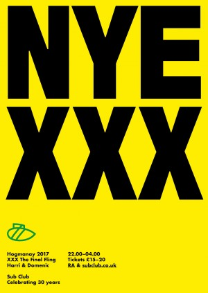 Sub Club XXX NYE・Harri & Domenic