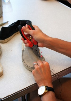 Shoe making workshop on the rooftop