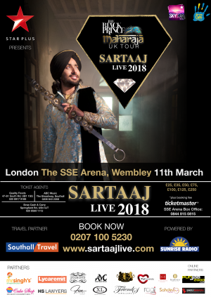 Satinder Sartaaj the Black Prince Maharaja Tour