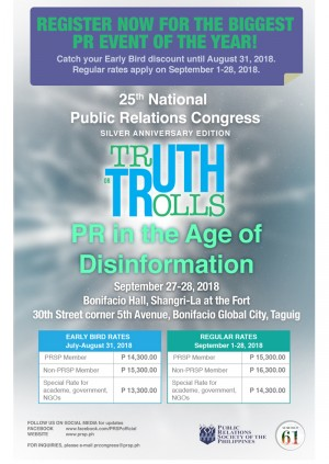 Truth or Trolls: PR in the Age of Disinformation (September 27-28, 2018)