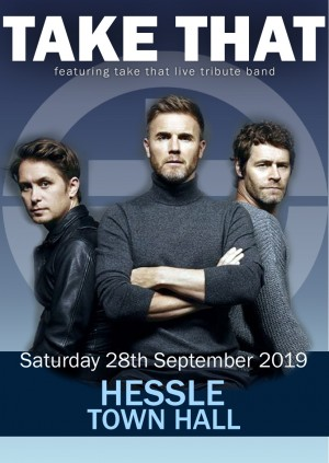 TAKE THAT LIVE TRIBUTE BAND @ HESSLE TOWN HALL, HULL