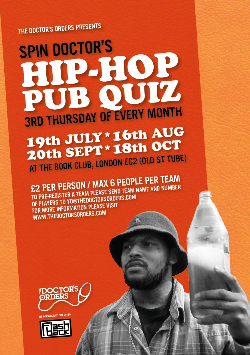 Spin Doctor's Hip-Hop Pub Quiz