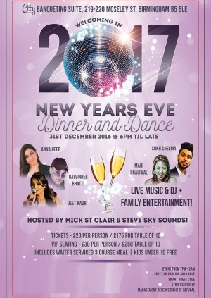 New Years Eve Dinner and Dance - 2017