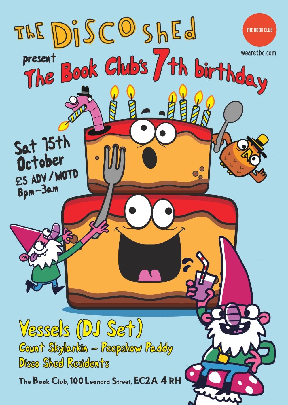 Disco Shed: The Book Club 7th Birthday w/ Vessels (DJ Set)