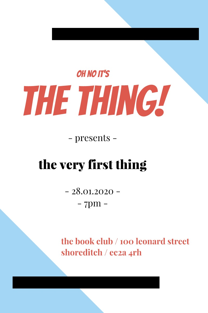 The Very First Thing