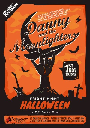 Danny & the Moonlighters Halloween Party plus, DJ Sacha Dieu
