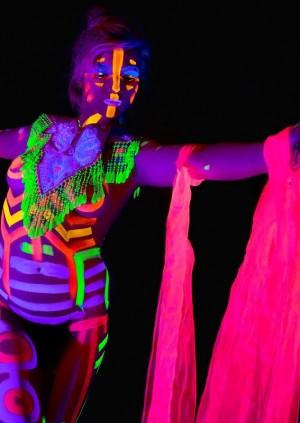 Neon Naked Life Drawing