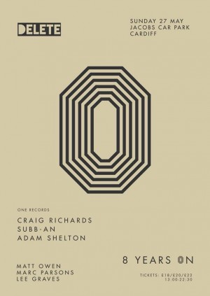 Delete presents 8YO w/ Craig Richards, Subb-an & Adam Shelton