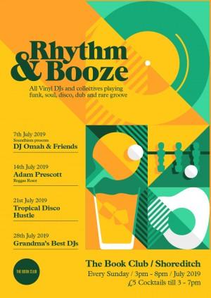 Rhythm & Booze w/ DJ Omar & Friends - All Vinyl Sunday Sessions!