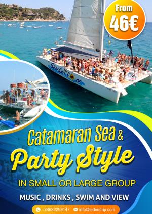 Massive group catamaran party boat