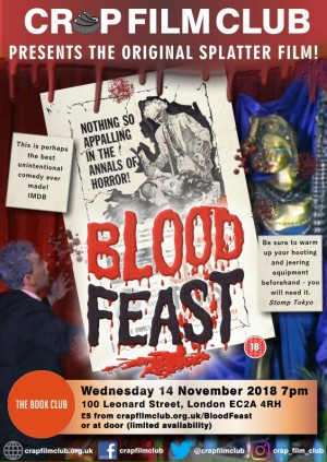 "Crap Film Club presents ""Blood Feast"""