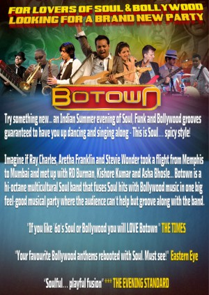 Botown - The Soul Of Bollywood - Birmingham