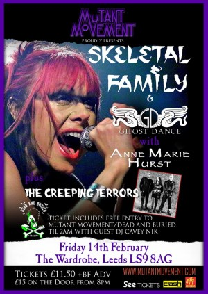 Skeletal Family/Ghost Dance with Anne Marie Hurst + The Creeping Terrors