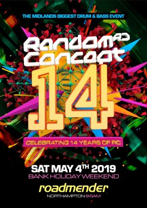 RANDOM CONCEPT Presents 14 YEARS - The Midlands Biggest Drum & Bass Event