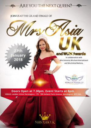 GRAND FINALE: MRS ASIA UK and WOW AWARDS