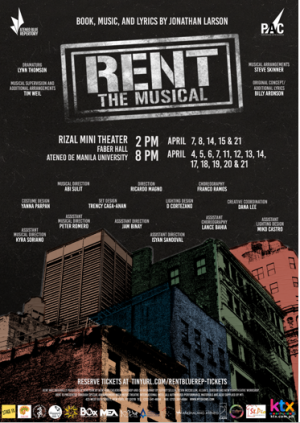 RENT: The Musical April 11, 2018 Wed
