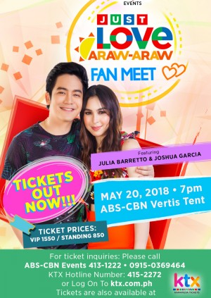 Just Love Araw-Araw Fan Meet with Julia and Joshua