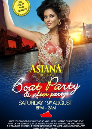 Asiana Summer Boat Party & After Party