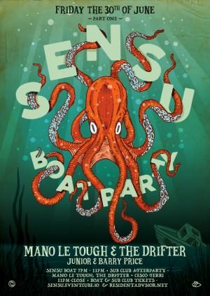 Sensu Boat Party Part 1 // Mano Le Tough & The Drifter