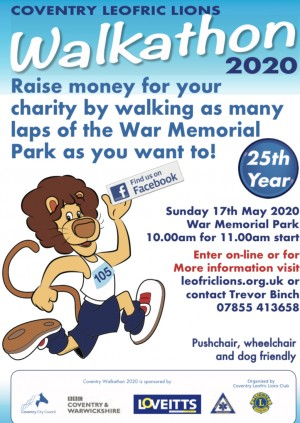 Coventry Leofric Lions Walkathon 2020 Entry